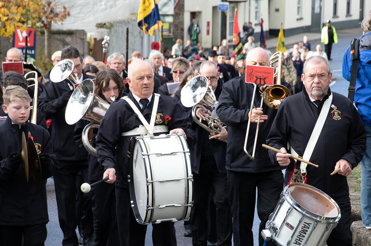 South Molton Remembrance Sunday 2019, to