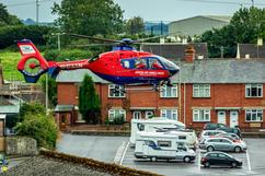 South Molton main car park, air ambulanc