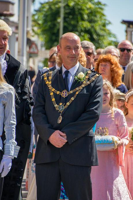 South Molton town mayor Cllr Paul Hender