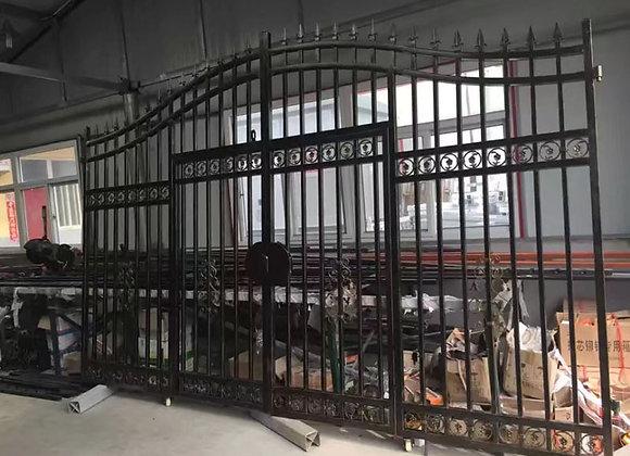 Customized Villa Double Swing Entrance Steel Iron Gate