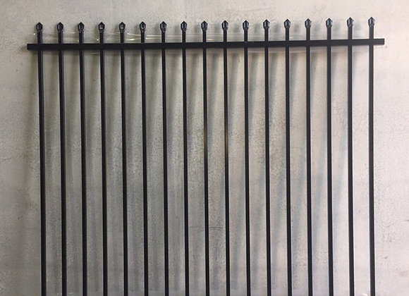Cheap Price Two Rails Spear top steel Picket fencing