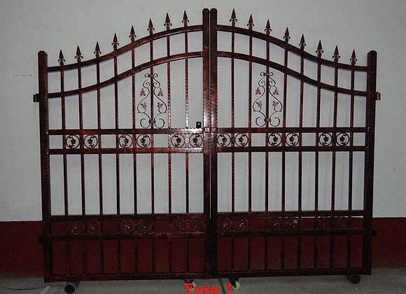 Fancy House Modern Iron Main Gate Designs