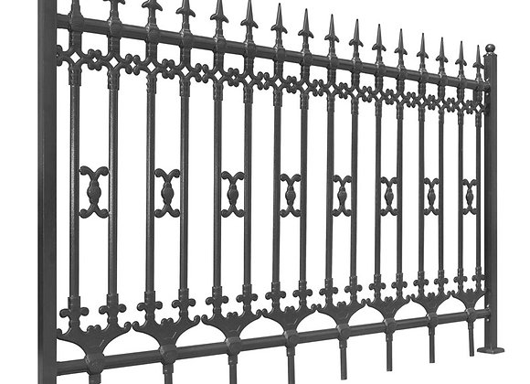 Garden used steel tubular fence wrought iron fencing panels for sale