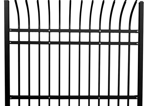 High quality black powder coated galvanized curved metal fencing