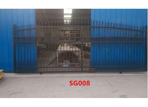 New Design custom Wrought Iron Metal Entrance Sliding Gate, iron gate design