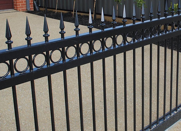 hot dipped galvanized sharp steel palisade high security fence