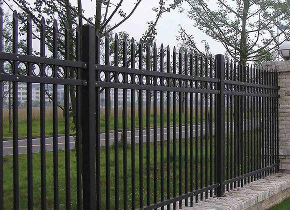 China black used aluminum picket garden fence