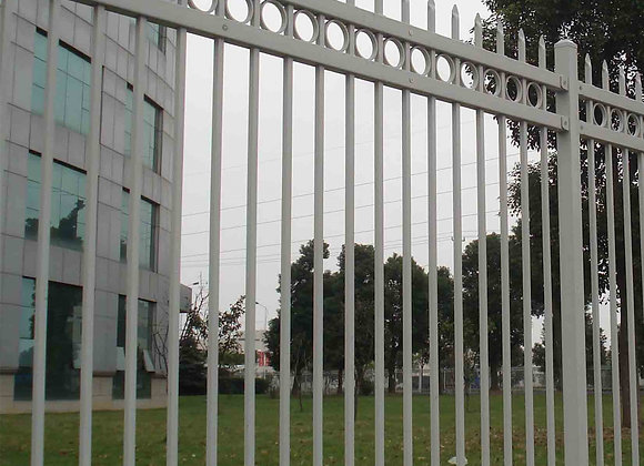Powder Coated White Steel Fencing