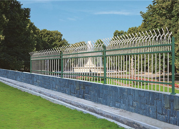 high quanlity easy assembeld galvanized fence pannel with curve top