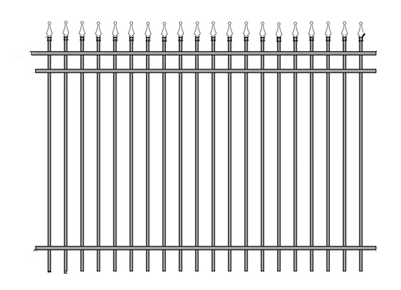 2018 New Design Cheap Wrought Iron Picket metal Fence Panel