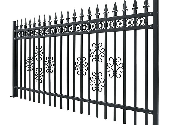 Factory wrought iron fence aluminum palisade steel picket fence