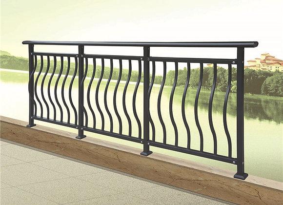 Decorative Galvanized steel pipe balcony railing designs