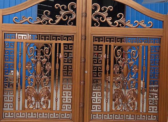 Decorative aluminum entrance main gate for garden and villa