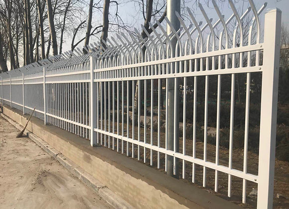 White Double-sided Bending High Security Steel Fence