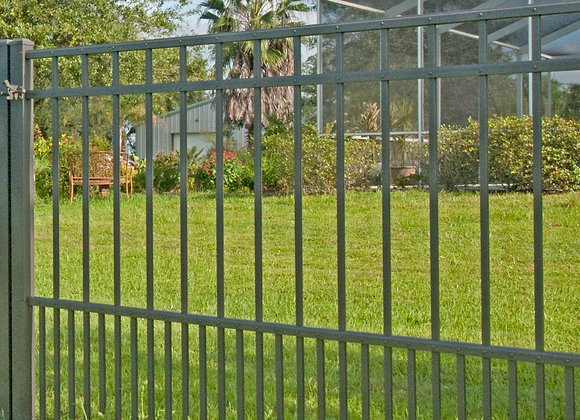 Customized security swimming pool flat top steel fencing