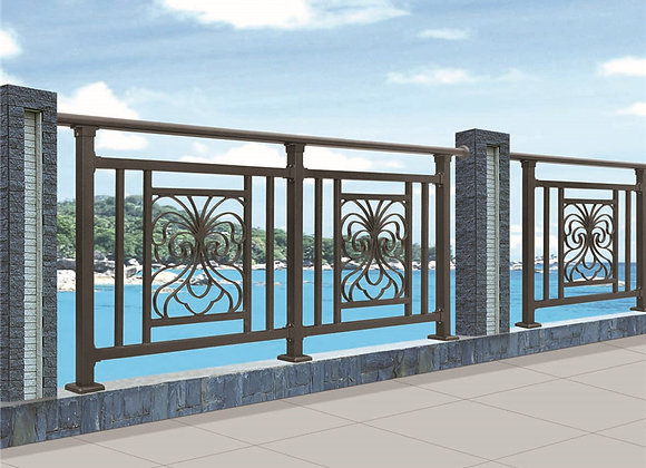 Decorative Steel balcony Balustrade Zinc Steel Railing