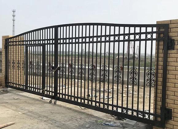 High Quality Cheap Custom HDG Steel Tube Fence Galvanized Iron Wrought Fence Gat