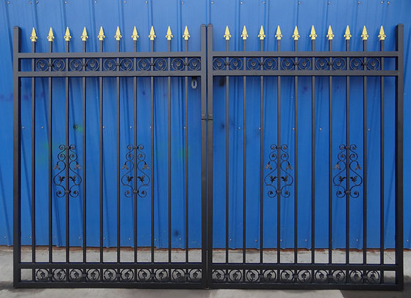 Galvanized powder coated luxury wrought iron gate designs