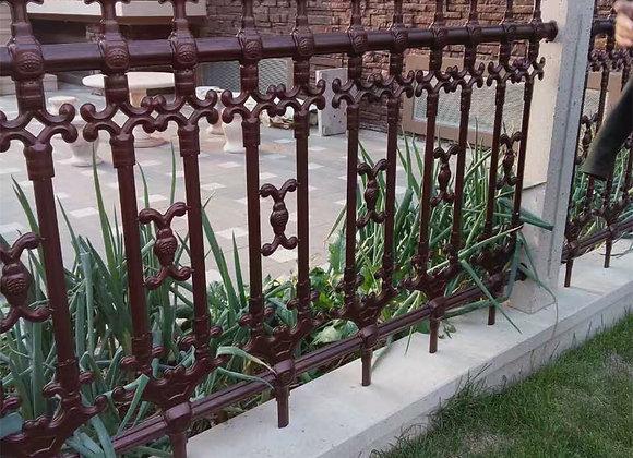 Euro-design Decorative galvanized steel palisade fencing