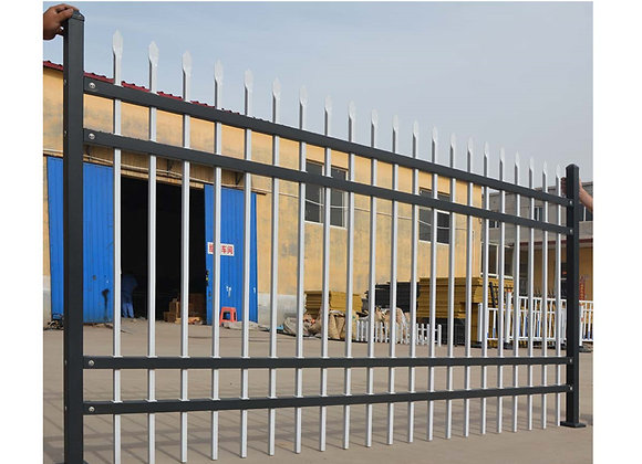 Factory Price Powder Coated Galvanized Metal Picket Fence