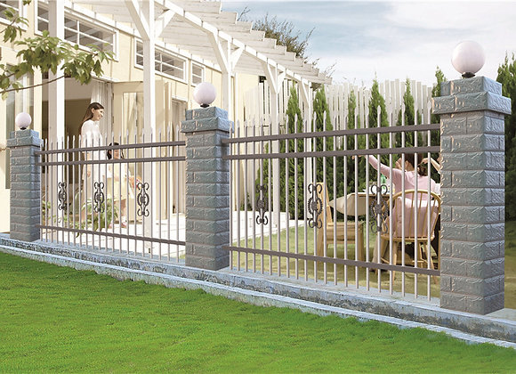 Easy Installation Galvanized Metal Welded Picket Fences
