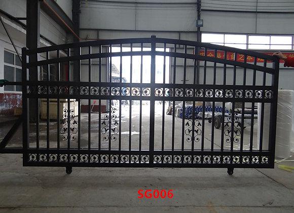 Cheap Decorative Modern House Wrought Iron Main Gates Designs