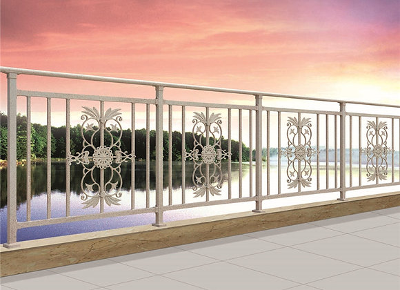 Modern design galvanized steel pipe balcony railing for deck