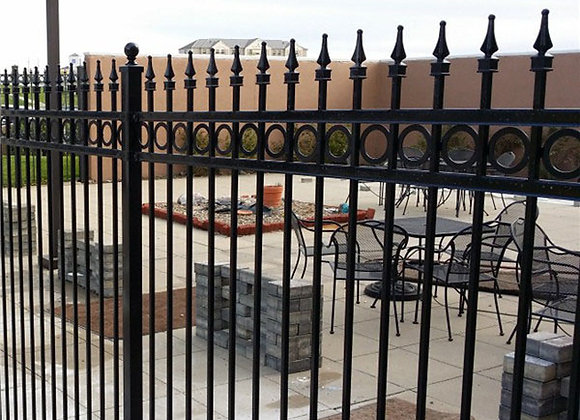 Home depot prefabricated wrought iron fence panels