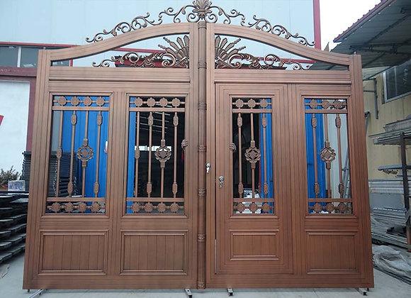 New style decorative customization garden remote control aluminum main gates