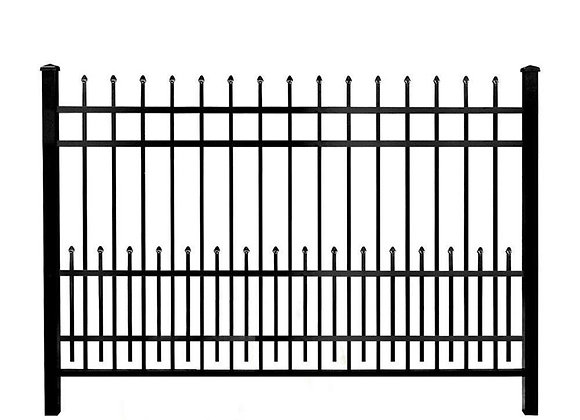 2.1m*2.4m Black spear top security fence panel