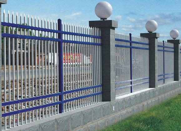 Beautiful 2.4m long two rails flat top swimming pool fence