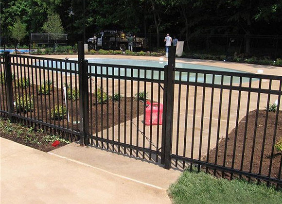 Dog proof wrought iron grill mesh fence gate design