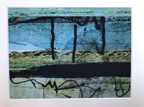 Justine Miller, Sea, 30cm x 24cm mounted, print