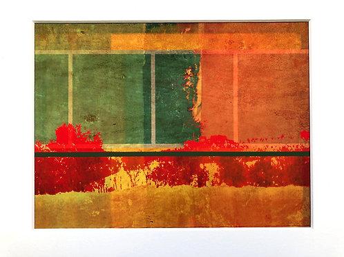 Justine Miller, Autumn Umber, 30cm x 24cm mounted, print