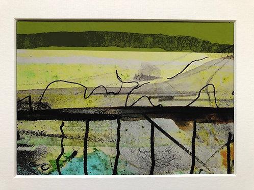 Justine Miller, Moors, 20.5cm x 15.5cm mounted, print