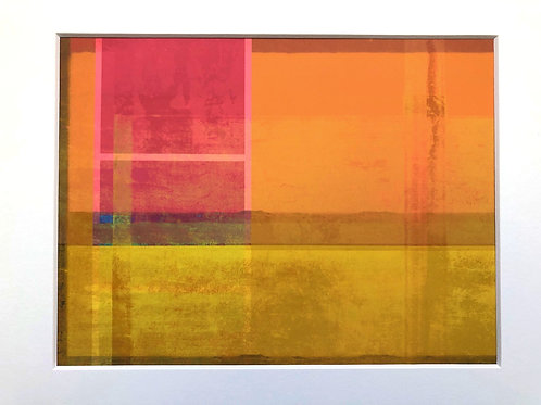 Justine Miller, Coastline, 30cm x 24cm mounted, print