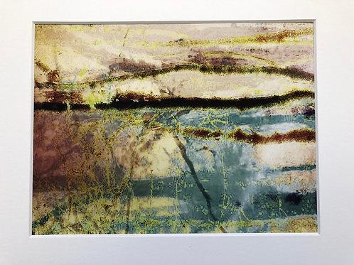 Justine Miller, Landscape, 30cm x 24cm mounted, print