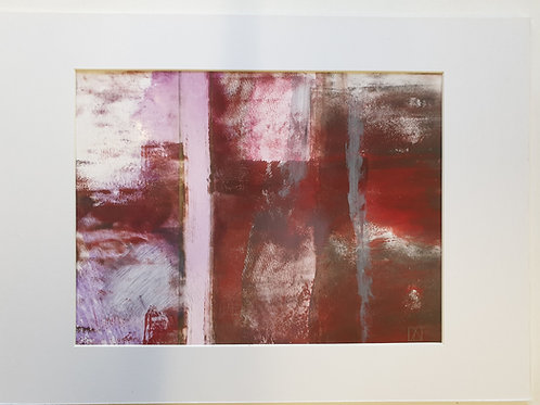Annie Livesey, Urban 2, A4 mounted, acrylic & pastel on gloss print paper