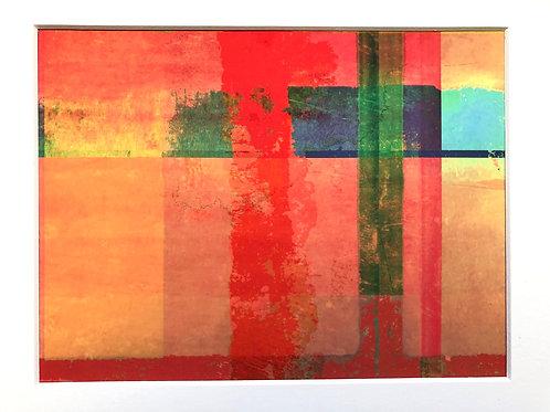 Justine Miller, Bright Summer, 30cm x 24cm mounted, print