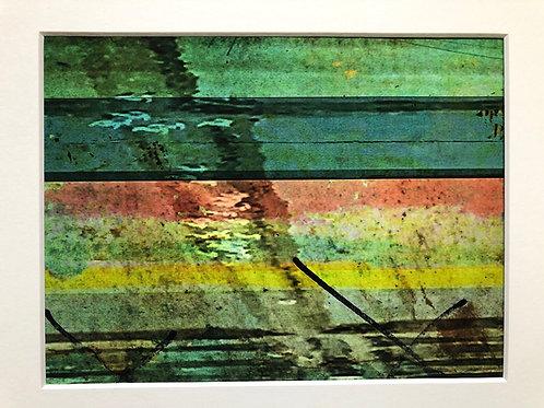 Justine Miller, Beachline, 30cm x 24cm mounted, print