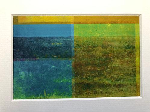Justine Miller, Coastline II, 20.5cm x 15.5cm mounted, print