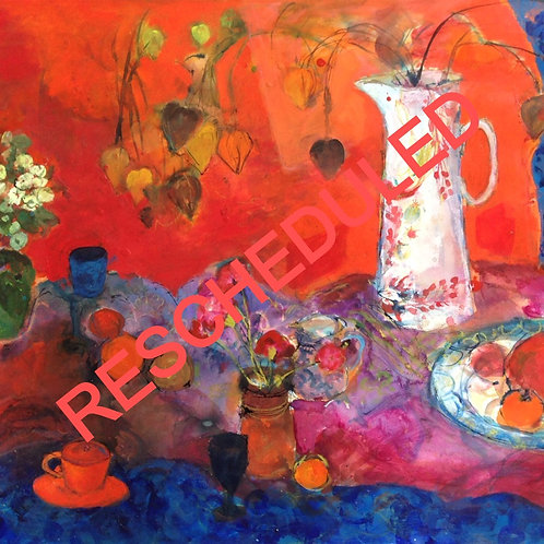 RESCHEDULED: Still Life with Acrylic with Ann Oram RSW, Sat 29th Aug, 10.30-4.30