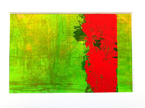 Justine Miller, Bright Summer II, 20.5cm x 15.5cm mounted, print
