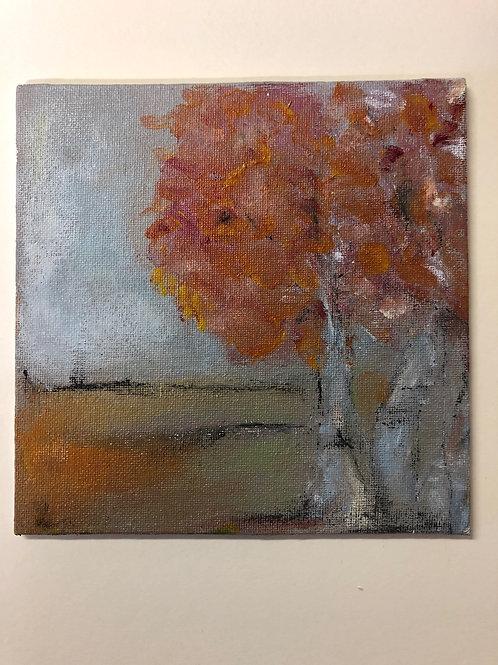 Liz Hardy, Autumn Day, 30.5cm x 35.5cm mounted, acrylic