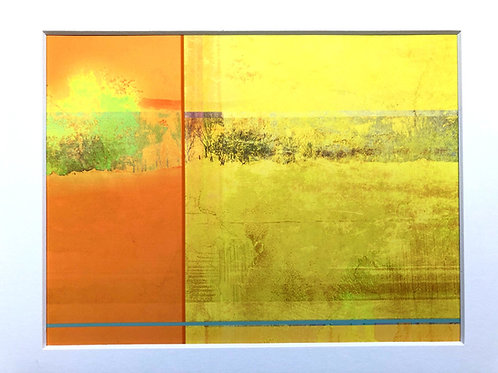 Justine Miller, Over the Yellow Rape, 30cm x 24cm mounted, print