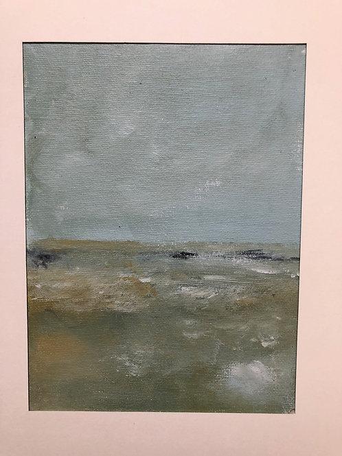 Liz Hardy, Wild Swimming, 21cm x 30cm mounted, acrylic