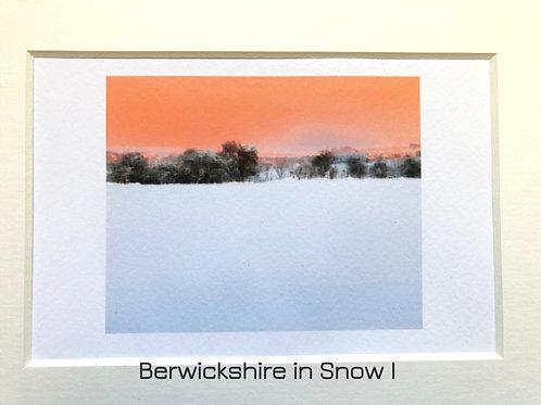 Justine Miller, Berwickshire in Snow series, 20.5cm x 15.5cm, digital print