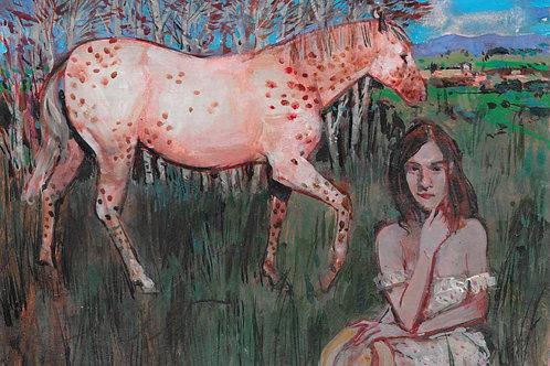 George Donald RSA RSW, Border Ballad, unframed, 21cm x 15cm, acrylic