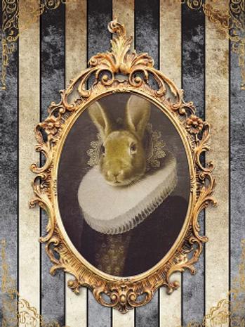 Royal Rabbit with Stripes