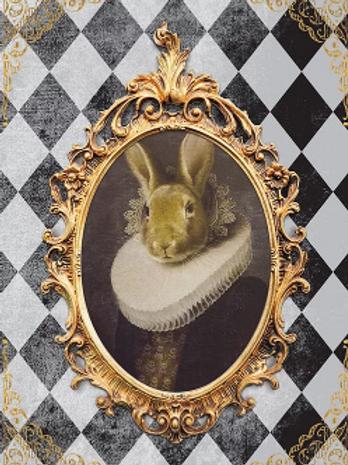 Royal Rabbit with Diamonds
